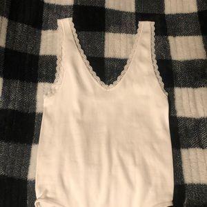 Tops - Lace Trim Bodysuit